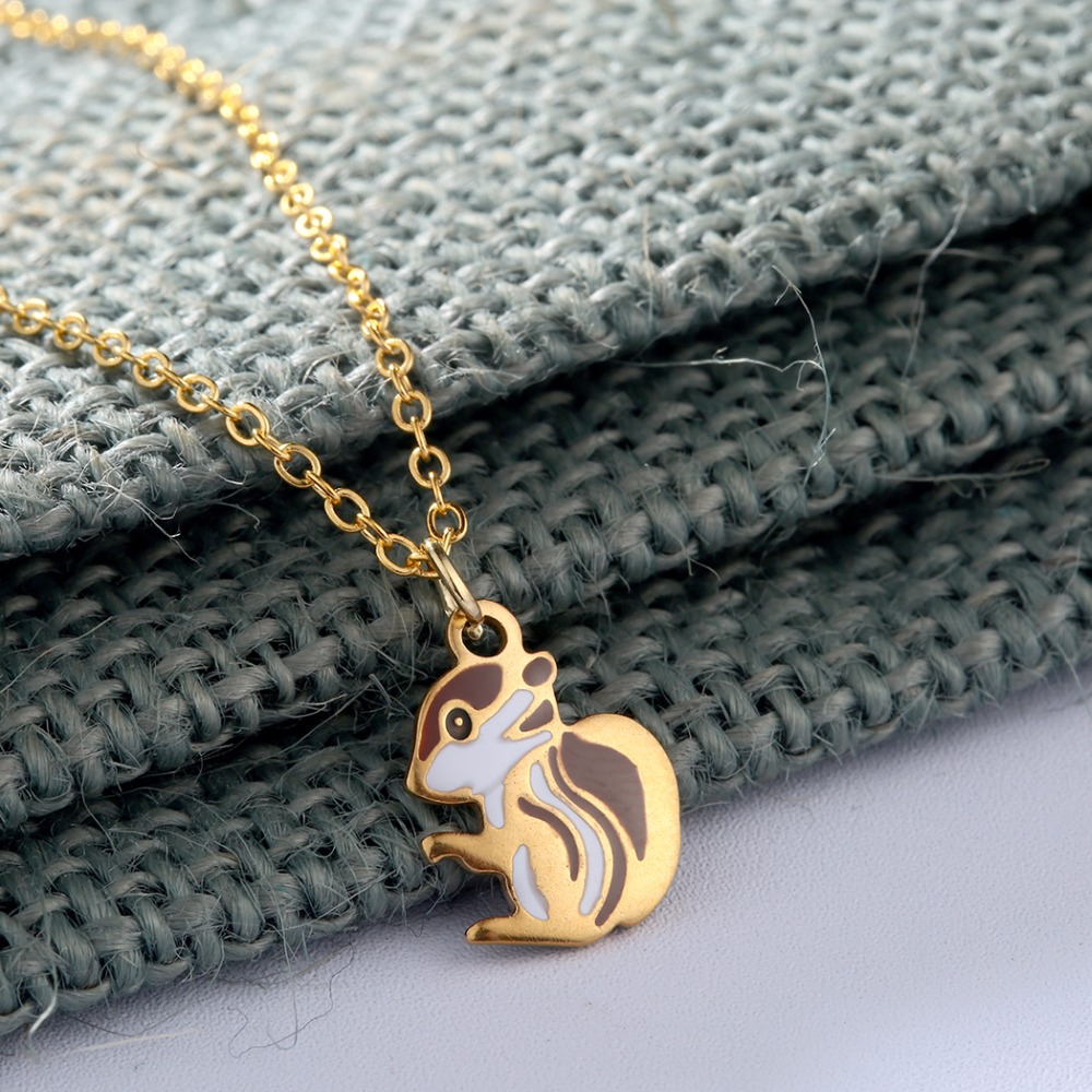 QIAMNI-Squirrel-Animal-Chain-Collar-Choker-Pendant-Necklace-Birthday-Gift-Women-Girls (1)