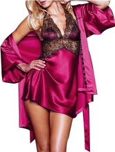 Four Colors Robe Lingerie Female Sexy Nightwear Halterneck Nightie Fantasias Sensuais Negligees Underwear Nightclothes CA481