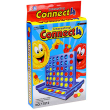 Connect 4 Puzzle Board Game 2 Players Four Chess Travel Package Easy To Carry For Family/Party/ Funny Game(China)