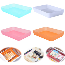 Hot sale BIG SIZE Multifunction Plastic Cosmetics Organizer Desk Drawer Storage Box For Cosmetics tableware office Supplies