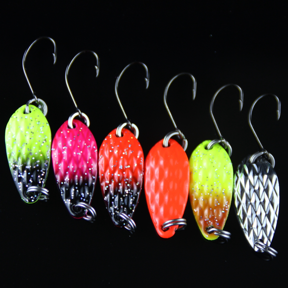 8pcs Fishing Lure Spoon 3cm 3.5g Hard Bait Metal Lures Isca Artificial Wobbler Micro Trout Spoon Bait Fishing Tackle Pesca 1 (8)