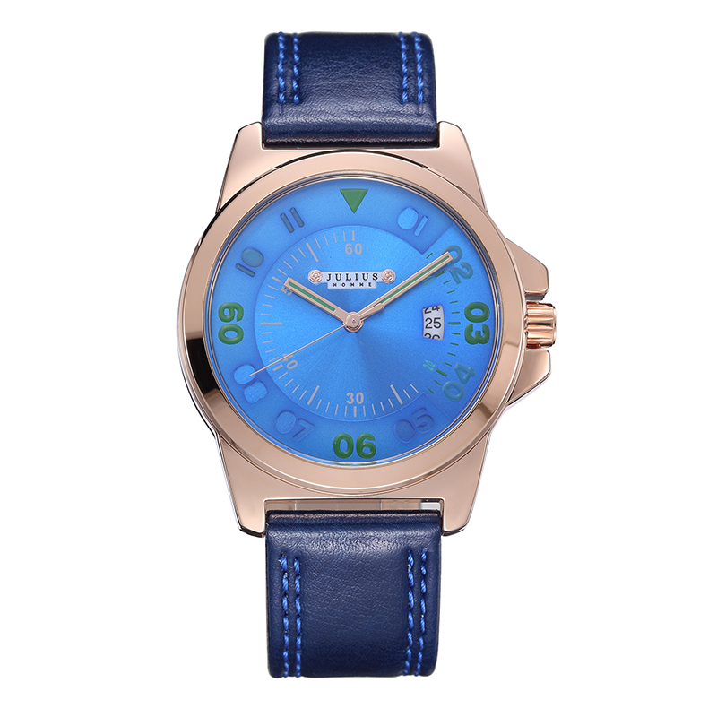 5 Colors Homme Mens Watch Japan Mov Hours Top Fashion Dress Bracelet Leather Boy Birthday Christmas Valentine Gift Box 075<br><br>Aliexpress