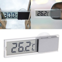 DHL 100PCS Car Truck LCD Digital Temperature Sensor Indoor Outdoor Home Sucker Thermometer(China)