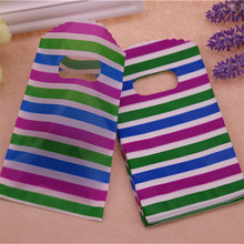 2016 New Design High Quality Wholesale 100pcs/lot 9*15cm Small Rainbow Present Gift Packaging Bags With Handles Mini Pouches