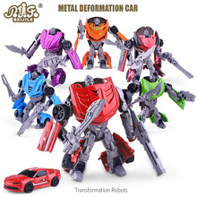 BEIJILE Action Figures Toys Metal Deformation Car Robots Alloy Model Car Styling Transformation toy DieCast Car Gift of children(China)