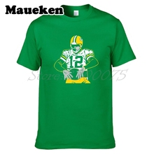 Men T-shirt Captain 12 Green Bay Aaron Freakin' Rodgers Tees Packers Short Sleeve T SHIRT Men's W0518001(China)