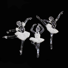 3 PCS Dancing Girl Acrylic Wedding Decoration Party Supply Diamond Embroidery Party And Event Deco Glitter Effect