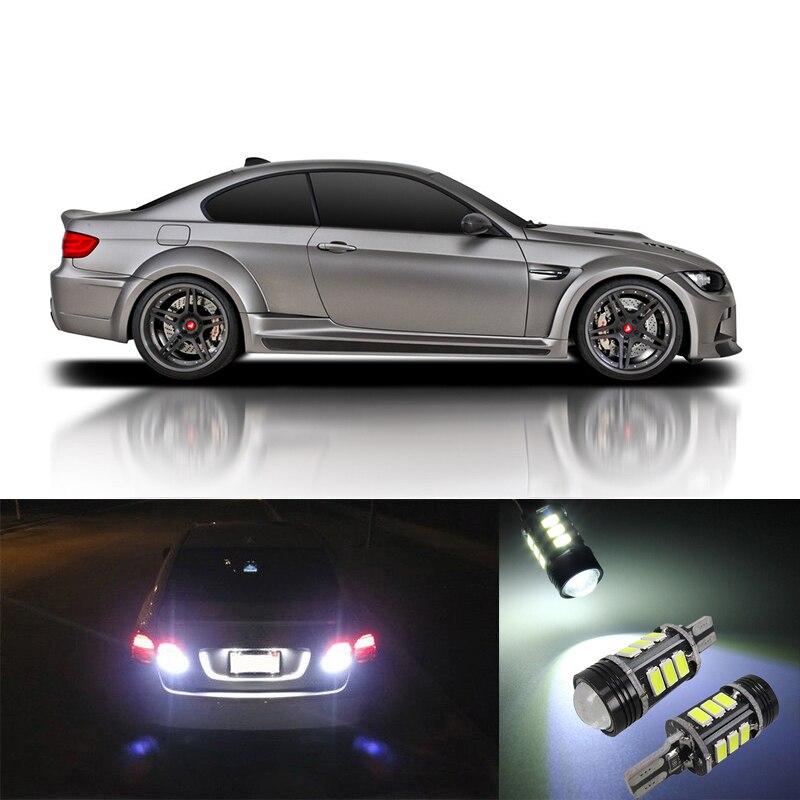 2pcs Car Xenon White T15 OBC Canbus Error Free Backup Parking Reverse Lights Bulb For BMW E39 E46 E60 E61 E90 E82 F82 M3 M4 <br><br>Aliexpress