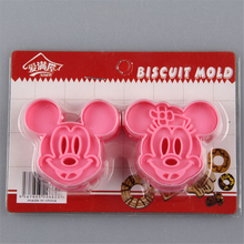 AMW Optional 8 Kinds Plastic Cake Fondant Cutter Mold Cheap Kitchen Bakeware Micky Mouse Hello Kitty Biscuit Cookie Mould Tools