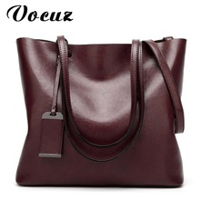 Women Shoulder Bags 2017 Fashion Women Handbags Oil Wax Leather Large Capacity Tote Bag Casual Pu Leather Messenger bag