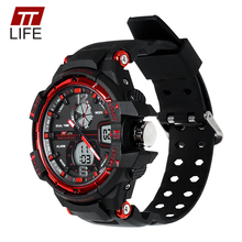 TTLIFE 2017 Luxury Brand Mens Watches 30m Waterproof Swimming Sports Military Mens Watch G Style Quartz Digital Wrist Watch TS11(China)
