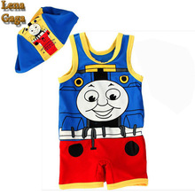 2016 Baby Boys Summer Clothes One Piece Swimsuit Fancy Cartoon Swimwear With Swimming Cap&BOYLEG Pants For Girl/Kid/Boy Clothing