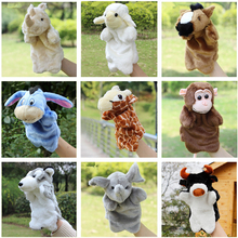 Kids Interactive Toys Plush Puppet Kangaroo Horse Tiger Hand Puppet Plush Doll Toys For Kids Baby Birthday Christmas Gifts