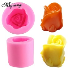 Mujiang Rose Flower Silicone Candle Molds Resin Clay Soap Mold Gumpaste Chocolate Fondant Cake Decorating Tools Kitchen Baking(China)