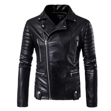 2017 harley motorcycle rider jacket mens leather jacket man's genuine cowhide embroidery skull leather jacket slim coat(China)