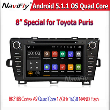 Cortex A9 RK3188 Quad core Android 5.1.1 Car DVD GPS player  For PRIUS 2009-2013 left driving With GPS Bluetooth Free Shipping