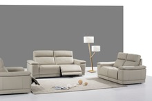 cow real/genuine leather sofa set living room sofa sectional/corner sofa set home furniture couch/ 1+2+3 seater recliners(China)