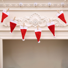 Fashion Home Party Christmas Decorative Christmas Hat Pull Flag Christmas DIY Fireplace Decoration Drop Ornaments gift(China)