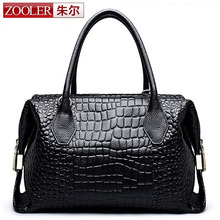 ZOOLER Vintage Crocodile Patent Genuine Leather Bags Designer Brand Women Handbags Ladies Shoulder Messenger Dollar Price - 1st China Store store