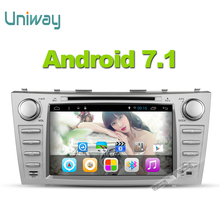 uniway 2G+32G 2 din android 7.1 car dvd for toyota camry 2007 2008 2009 car radio stereo gps navigation with steering wheel(China)