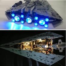 LED light kit lego 75190 Compatible 05131 ( Bricks Set included) Star Wars First order Star Model Destroye  Store)