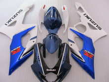 Injection mold Fairing Kit for SUZUKI GSXR1000 K5 05 06 GSXR 1000 2005 2006 ABS New white blue Fairings set+7gifts KY23