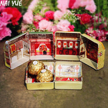 NAI YUE Creative European Tinplate Small House Candy Box Candy Box Wedding Supplies Hot Item
