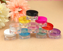 10g Plastic Cosmetic Container Lip oil Cream Sample Bottle Empty Nail Polish Packing Square Bottom Jars