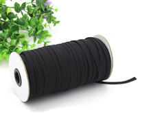 Free shipping 50 meters (54 yards) 3/6/9mm black/white color Elastic Bands elastic webbing for wedding dress/corselet/baby dress(China)