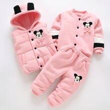 a6cce1b87 Caliente 3 piezas 2018 niños bebé ropa de invierno recién nacido Ropa  gruesa de algodón acolchado