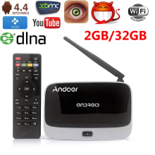Andoer 2G/32G HD 1080P Smart Android 4.4 TV Box Rockchip RK3188T Quad Core Cortex A9 Miracast WiFi OTG Smart Media Player(China)