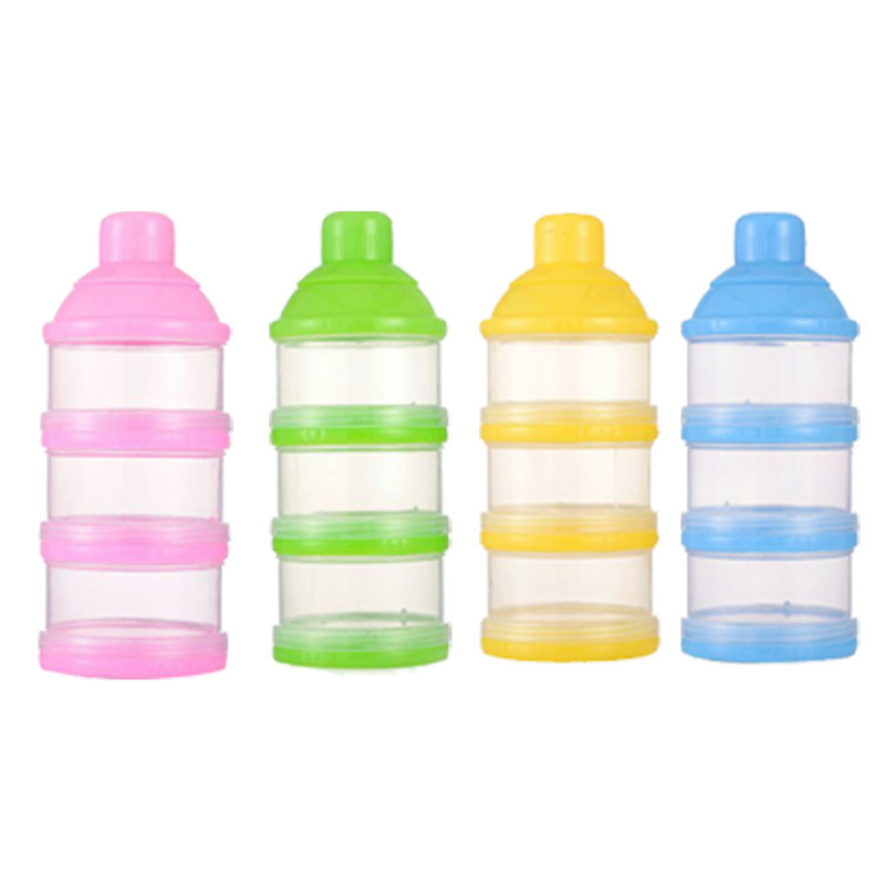 1 PC Portable Baby Infant Toddler Solid Milk Powder Bottle Container 3 Cells Grid Newborns Feeding Care Kids Food Storage Box(China (Mainland))