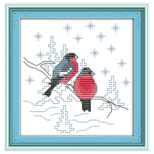 Two Red Birds Pattern Counted Cross Stitch 11CT 14CT Cross Stitch animals Cross Stitch Kits Embroidery for Home Decor Needlework