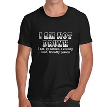 Print T Shirt T Shirt Fashion Mens Cotton Novelty Funny Design I Am Not Drunk T Shirt Black X Large Men'S T Shirt Fashion
