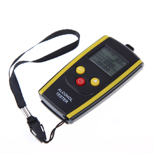 Portable LCD Alcohol Tester Digital Drunk Driving Detector Breathalyzer Professional Alkotester Backlight Display Alcoholometer(China)