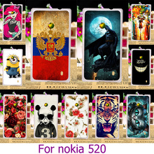 Hard Plastic Case For nokia 520 Painted Case For Nokia Lumia 520 N520 525 526 4.0 inch Case Cover Shell housing Phone Skin