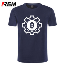 Buy REM New fashion Designer Bitcoin T Shirt Mens Womens Creative Trendy Printing T-Shirt Man Cotton Regular Short Sleeve Tops Tees for $9.99 in AliExpress store