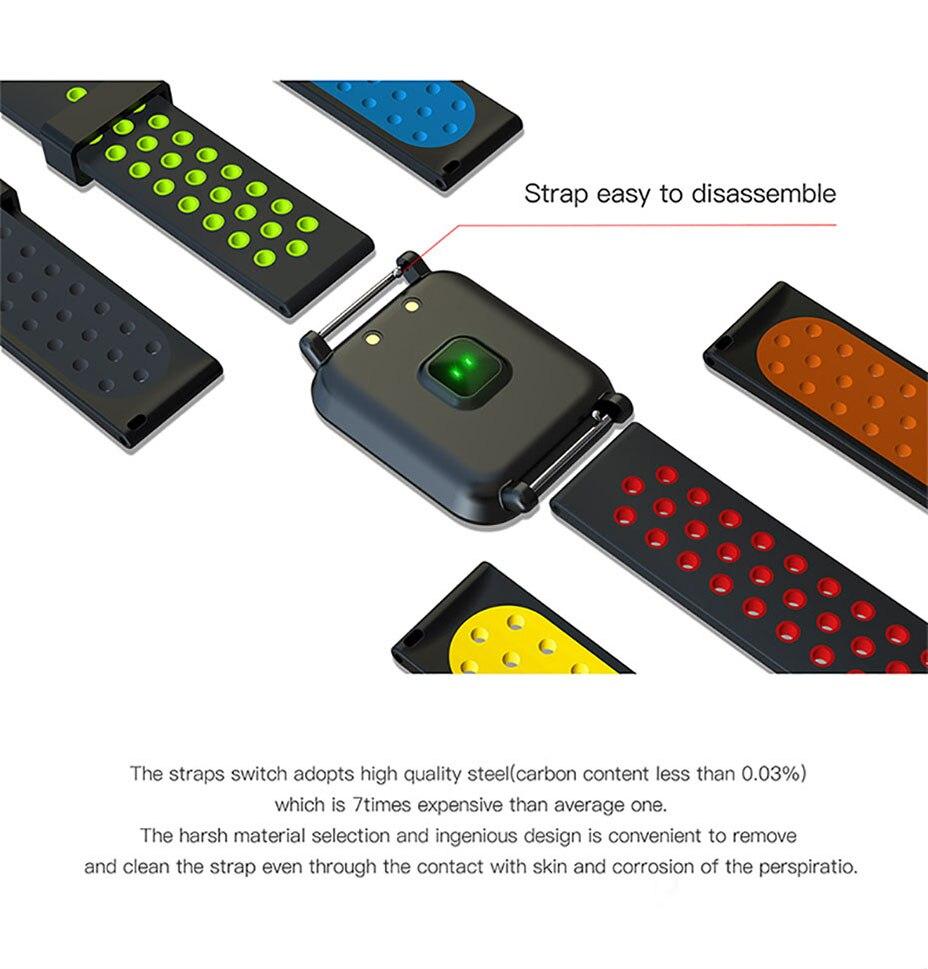 COLMI Smart Watch Men Tempered glass Fitness Tracker Blood pressure IP68 Waterproof Activity Tracker Women Smartwatch 4