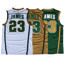 Retro Lebron James #23 Irish High School Basketball Jesery James 3 color Breathable Summer Classical Streetball Jerseys