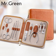 MR.GREEN 12 in1 Manicure Set Stainless Nail Clippers Cuticle Utility Manicure Set Tools Nail Clipper Grooming Kit Nail Care Set(China)