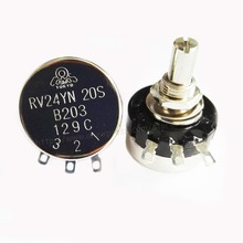 2pcs/lot RV24YN20S B203 20K ohm adjustable resistance single-ring carbon film potentiometer