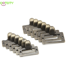 6x Handle File Name Card Cabinet Label Holder Antique Brass Drawer Pull Frame 828 Promotion(China)