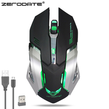 ZERODATE X70 Dual-mode Rechargeable 2.4GHz USB Wireless Wired Optical Gaming Mouse 2400DPI with Colorful Backlight for PC Laptop(China)