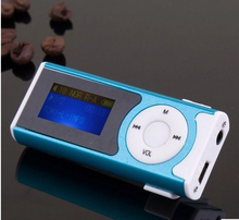 New arrival  led light Support MP3/WMA audio 16GB Micro SD card  Shiny Slim Mini USB Clip LCD Screen MP3 Media Player