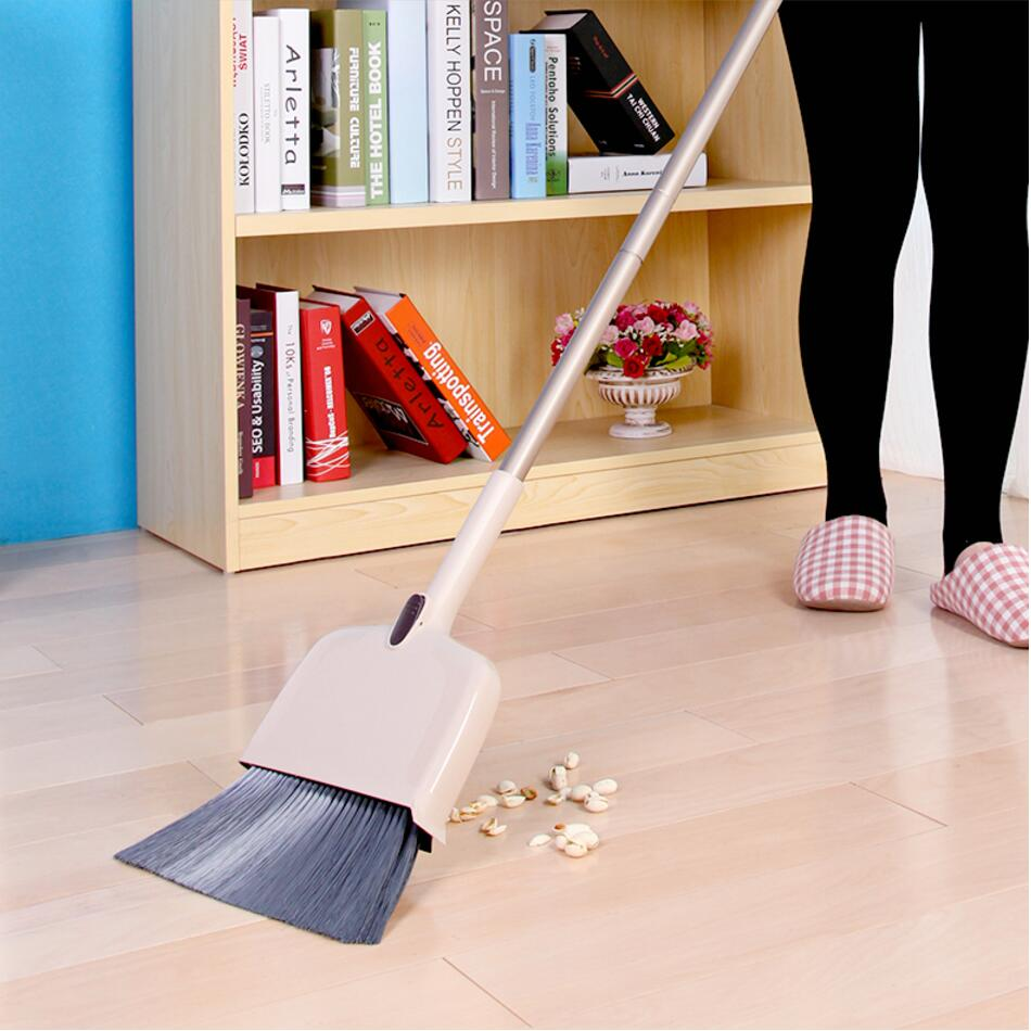 138cm Long Broom with Dust Pan Cleaning Tools Household, Adjustable Pet Broom Head, Extensible Handle, zigzag design Dustpan(China (Mainland))