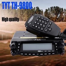 Newest Version 26-33/47-54/136-174/400-480 Original Quad band TYT TH9800 Transceiver Dual Display Car Transceiver Walkie talkie