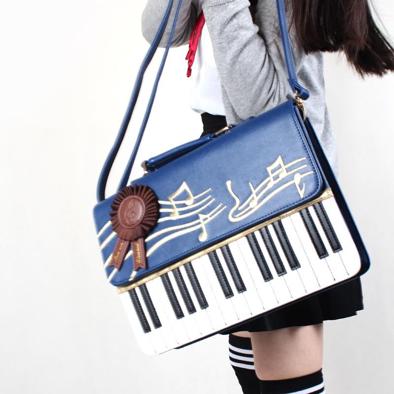 Piano Key Note Single Shoulder bag Lolita Kawaii Inclined shoulder bag preppy style Women Girls Lady JK Uniform<br><br>Aliexpress