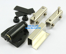 5 Sets Press Open Single Glass Door Pivot Hinge Set Clamp Clip Magnetic Catch Latch(China)