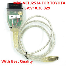 2017 New Arrival Single Cable Mini-VCI J2534 FOR TOYOTA TIS Techstream V10.30.029 Diagnostic Cable MINI VCI Free Shipping