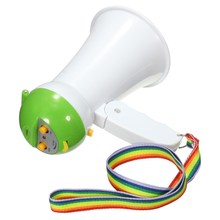 New 4 Colors New Mini Portable Handheld Megaphone Foldable 5W Loud Speaker Bull horn Voice Amplifer(China)